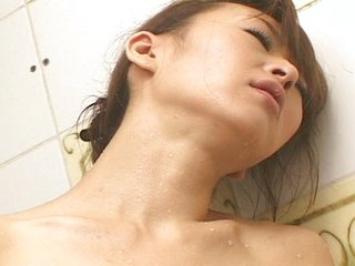 Japanese bird masturbates in shower