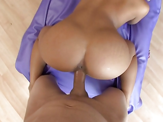 Sex instalment with asian girl, accomplishing with creampie