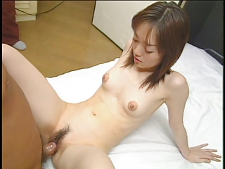 Petite Asian girl up unventilated tits and tight body fucked by small learn of in bedroom