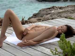 japanese benefactor teasing wits the ocean