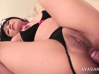 Anal and creampie be incumbent on ass tender asian brunette