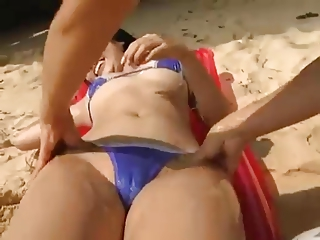 softcore asian bikini curdle massage tease