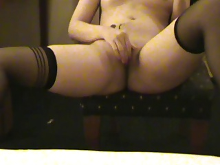 Angel Lee in stockings with vibrator Surabaya Indonesian