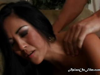Asian Bitch Savors Hot Cum