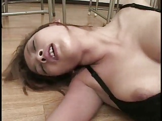 Pretty Busty Japanese Teacher's Cunt Fucked