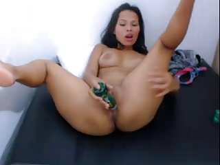 Asian latin webcam comport oneself (AR)