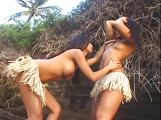 Kina and Christina Outdoor Lesbians