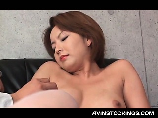 Japanese erotic mom in stockings submitted to bodily jesting