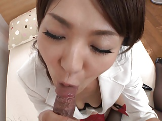 Japanese secretary creampie fuck