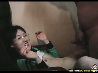 Asian Virgin Fucks A Load of shit For The First Time