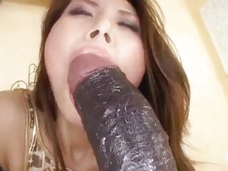 Sexy Asian Sucks Coupled with Fucks Her Dildo