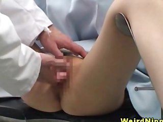 Petite asian chicks fingered at the end of one's tether weaken