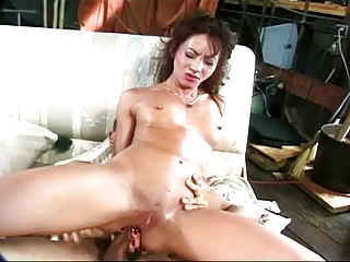 Asian drawing a fat cock near her ass