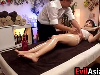 Asian Skirt Gets A Massage