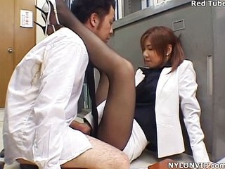 office son handjob nylon footjob pantyhose