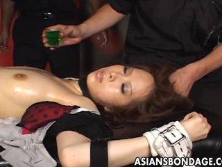 Nasty shibari play the part here a hot Japanese brun