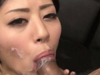 Facialized cock sucking asian skirt