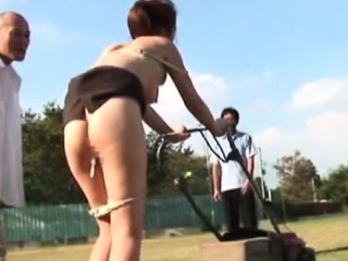 Japanese nippon anally fingered outdoor