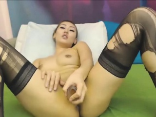Well-disposed cum show with toys