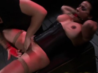 Bound asian submissive fingered