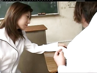 Pretty Sexy Japanese Teacher's Hot Soft Cunt Fucked