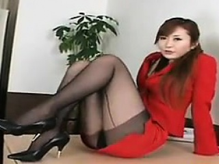 Magnificent Asian With Sexy Legs