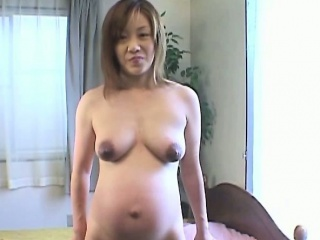 Busty preggo asian milf denude get used to up