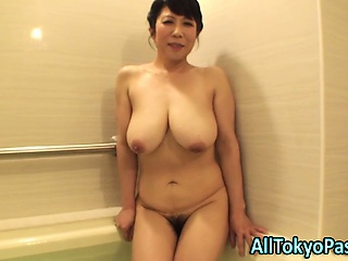Blowing mature asian old bag