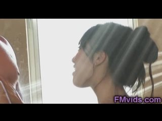 Elegant asian baby Asa Akira hot shower