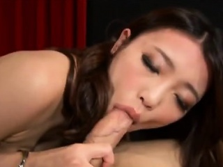 Oriental babe blows a pervs hard dick added to gets tongued