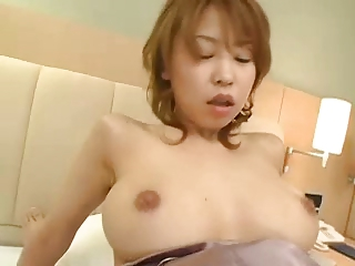 Shapely Japanese dreamboat gets Cyclopean creampie