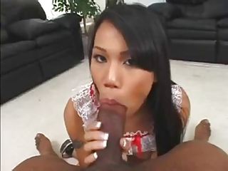 Luci Thai Enjoys A Black Cock