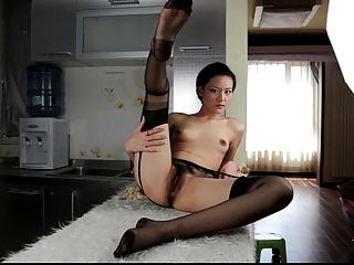 Asian Xiao Posing in Stockings Part 1