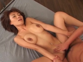 Smashing titties nymph Miri Sugihara playing cock!