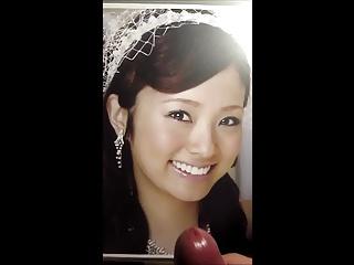 Cumtribute for Japanese actress Aya Ueto 05
