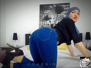 Muna Hijab Arab Babe Cam Session Ragging #1