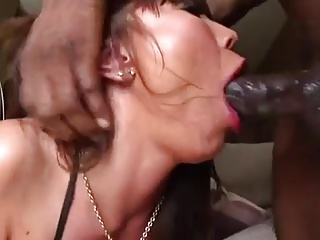 Asian Milf sloppy deepthroat big black cock
