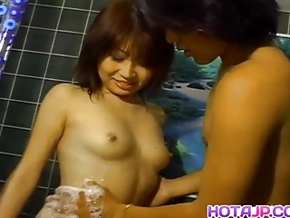 Reona Fujisaki has showered cunt fucked