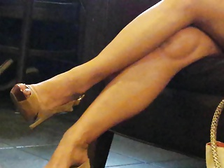 Out in the open Feet: High Heeled Asian