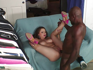 Beautiful girl masturbates with a dildo in front baneful cock have sexual intercourse