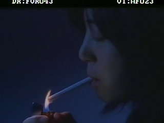 Korean woman smoking