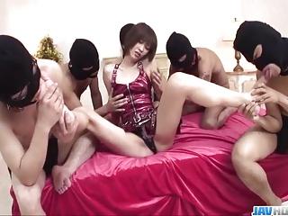 Inexact gangbang for slim Japanese Nene Mashiro