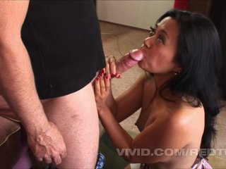 Hairy muffed MILF milks man meat