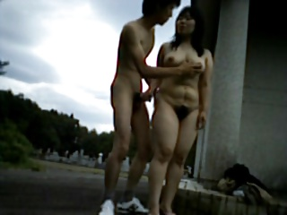 Fucking a beamy hairy tie the knot outdoors