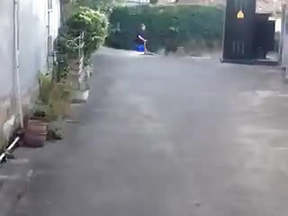 Performing his chinese slutty wife down public 4