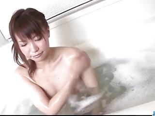 Doting shower goes nasty for horny Kana Mimura