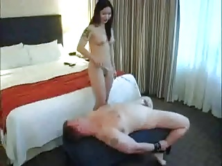 Punishment at the end of one's tether Asian Dom