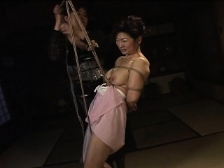 Matured bitch gets roped up increased by hung in a bdsm session