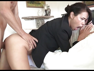 Niggardly Stepson Fucks and Baptizes Submissive, Classy Stepmom