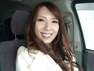 Yui Hatano Deepthroats Cock In Passenger car (Uncensored JAV)